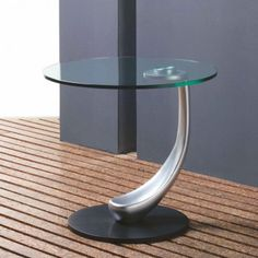 Modern Glass End Table Monza