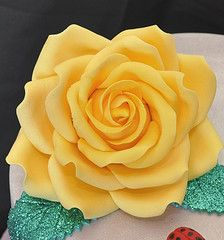Beautiful Yellow Gumpaste Rose