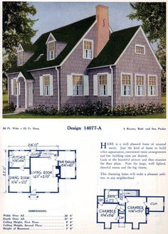 American home designs – Vintage house plans Sims House Plans, House Plans One Story, Bungalow House Plans, Craftsman House Plans, House Floor Plans, European House Plans, Vintage House Plans, Southern House Plans, Modern House Plans