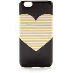 J.Crew Factory Heart iPhone 6 Phone Case ($6.13) ❤ liked on Polyvore featuring accessories, tech accessories, phone cases, phones, cases, tech and metallic gold heart