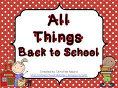 All Things Back To School 15 Math Station and 8 Literacy Stations  Great activities to train your students how to use stations