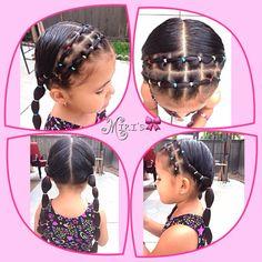 Hair style for little girls