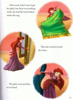The Little Mermaid's Holiday Treasure Hunt Book via www.Facebook.com/pages/Princess-Ariel/220139621335723