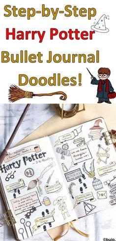 Harry Potter Bullet Journal Doodles- Step by Step Tutorials for 2021