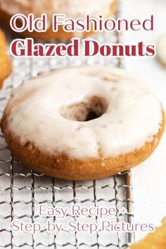 Old Fashioned Glazed Donuts - The perfect donut recipe! Homemade yeasted donuts fried and covered in a delicious glaze. Tastes just like your favorite cider mill donuts. Homemade Donuts | Old Fashioned Donuts | Doughnuts Recipe | Glazed Donuts Recipe Best Breakfast Recipes, Savory Breakfast, Sweet Breakfast, Breakfast Time, Brunch Recipes, Donut Recipes, Bread Recipes, Crockpot Recipes, Amazing Recipes