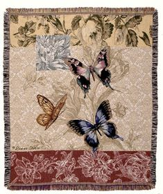 Butterfly Floral - Tapestry (TPM903), Throw