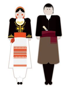 illustrations based on the traditional garments of Greece.Goal of the project is to present each regional costume in a modern way using basic shapes but close to the originals forms, colors and patterns. Folk Dance, Greek Clothing, Basic Shapes, Ancient Greece, Kids And Parenting, Crafts For Kids, Costumes, Traditional, Behance