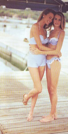 Niki & Krissy Taylor - Vogue, May 1992