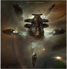 Jupiter Ascending concept art | Designer: George Hull | Via: The Verge