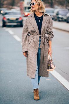 Coat. London Fashion week street style