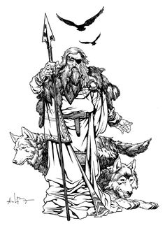 Odin - The All Father by andreibressan.deviantart.com on @deviantART