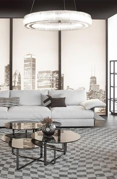 Smooth shades of gray and black. Fendi Casa Hampton sofa by Toan Nguyen Contemporary Collection. Luxury Living Group