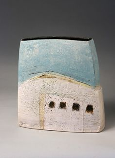Ceramics by Craig Underhill at Studiopottery.co.uk - Produced in 2007. Clee Hill, altered landscape H24cm.