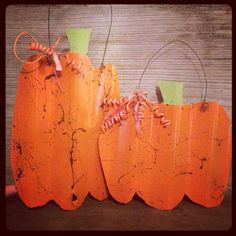 Corrugated Tin Pumpkin Hangers, hoping to have the metal by then!