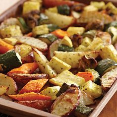 We roast veggies all the time like this. Italian Roasted Vegetables - The Pampered Chef®