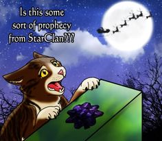 Christmas to a warrior cat Warrior Cats Funny, Warrior Cats Comics, Warrior Cat Memes, Warrior Cats Series, Warrior Cats Books, Warrior Cat Drawings, Warrior Cats Fan Art, Cat Comics, Warriors Erin Hunter