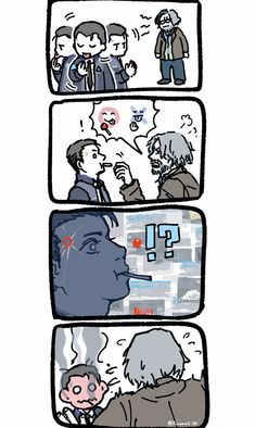 Detroit Become Human (DBH) -Connor, Hank and lollipop Wattpad, Luther, David Cage, Detroit Game, Quantic Dream, Detroit Become Human Connor, Becoming Human, I Like Dogs, Human Art