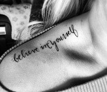 Inspiring picture cursive, inked, shoulder, summer, tattoo. Resolution: 500x500. Find the picture to your taste!
