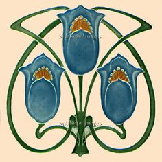 Sublime Images produces a wide range of reproduction Art Nouveau tiles, available in different finishes and sizes and at a modest cost. Please read our Full Description below and to understand how our tiles are produced read Our Process. Motifs Art Nouveau, Azulejos Art Nouveau, Design Art Nouveau, Art Nouveau Pattern, 16 Tattoo, Tattoo Art, Tattoos, Art Nouveau Tiles, Art Vintage