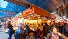 Just inside the entrance of the Boqueria, on the right-hand side, is this essential market bar. It's run by Juanito, one of the city's best-loved figures. Barcelona Restaurants, Daily Specials, My Land, Mediterranean Recipes, Places To Eat, How To Know, Marketing, Night, City