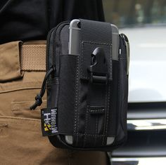 Outdoor Tactical Molle Waist Pack Bags Sport Casual Pouch Purse Phone Case for Iphone 6 Plus SAMSUNG Note 2 3 4 CORDURA Fabric