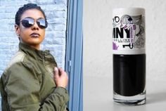 This fall's new beauty trend: bordeaux-purple lipstick, black nails & army colors
