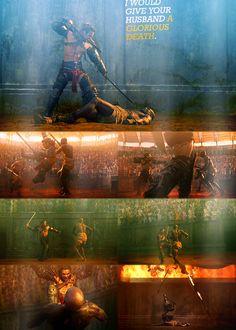 #Gannicus #Oenomaus #Spartacus