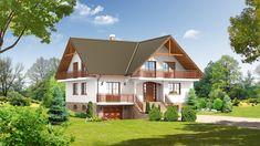DOM.PL™ - Projekt domu DP frydman CE - DOM PK1-23 - gotowy koszt budowy Contener House, Home Fashion, My Dream Home, House Plans, Farmhouse, House Design, Architecture, House Styles, Small Houses