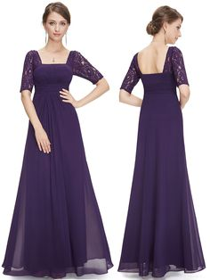 Chiffon Floor Length Purple Bridesmaid Dresses With Sleeves,Cap Sleeves Lavender Long Bridesmaid Dresses vestido de festa longo - Prom dresses with sleeves, lace prom dress 2016 online