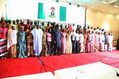 PHOTOS: President Jonathan meets with abducted chibok girls 's parents.