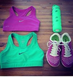 Cute work out clothes.