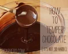 easy tutorial on tempering chocolate. will have to try it the next time i'm in the mood for making truffles.