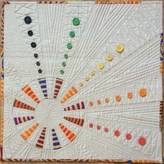 """""""Spin"""" mini quilt by Melissa Marginet."""