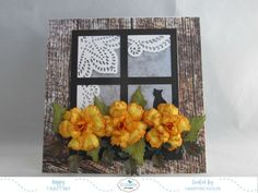 Hello everyone Christine here from Susan's Garden Design Team I am so excited to be using  a couple of Susan's brand new releases coming soon at Elizabeth Craft Designs.  This card has Susan's Garden Notes Begonia and Garden Notes Window w/window box.  My card is a 5-1/2″ square tent fold card but it can certainly be made in another size and could be a side fold card. Here is how the card was made.  Card base cut from white Soft Finish Cardstock 5-1/2″ wide by 11″ long score at...