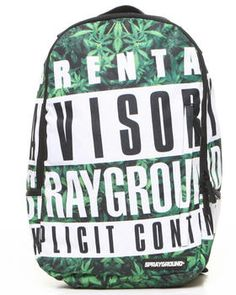 Explicit Greens Backpack by Sprayground @ DrJays.com!