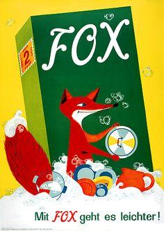 Fox Soap Vintage Advertising Poster