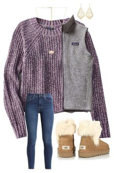 Schoolio by abbyharshman8 on Polyvore featuring American Eagle Outfitters, Levis, UGG, Patagonia and Kendra Scott