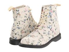 Dr Martens Evan 7 Eye Womens Boots Buff Wild Flowers Canvas 10 0US 8 0UK | eBay $64.99