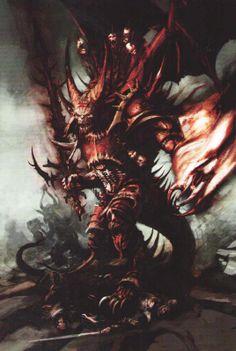 Prince Démon, par (auteur inconnu), in Warhammer Battle 8e édition livre d'armée Guerriers du Chaos, par Games Workshop
