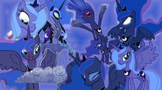 My Little Pony Coloring Pages Nightmare Moon : Princess luna s royal guards my little pony friendship is magic