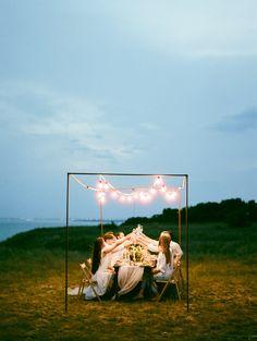 nighttime beach weddings - photo by Vitaly Ageev Photography http://ruffledblog.com/modern-european-beach-wedding-inspiration