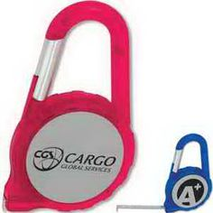 """Measure your marketing progress with a promotional product that's got style! Featuring a 6' metal tape with metric and inch ruler, this carabiner tape measure makes a creative giveaway at tradeshows or community events. Available in 2 translucent colors with a silver imprinting area. Add your custom imprint and give a gift that'll help build brand awareness for your company. 2 1/8"""" W x 3 5/8"""" H x 9/16"""" D. Perfect for a contrac..."""