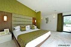Зеленая спальня фото