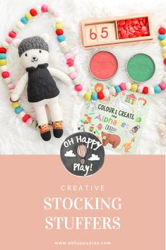 Creative Stocking Stuffers - Oh Happy Play Christmas Morning, Christmas Gifts, Christmas Decorations, Christmas Ornaments, Best Blogs, Mom Blogs, Happy Play, Kids Play Spaces, Stocking Stuffers For Kids