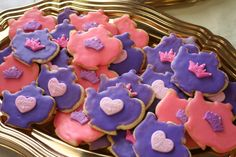 Cookies made for a princess tea party
