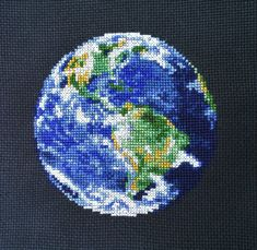 Earth Cross Stitch Pattern Instant Download by AngelinaCrossStitch