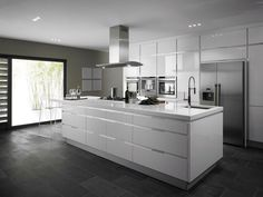 Cool 88 Modern Grey and White Kitchen Decoration Ideas. More at http://www.88homedecor.com/2017/10/10/88-modern-grey-white-kitchen-decoration-ideas/