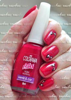 esmalte Colorama rosa incrivel + adesivo
