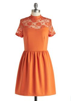 Party in Persimmon Dress, #ModCloth