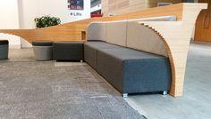 AUT Custom Seating - Reception Counter Conversion #stools #buttonstools #bfg